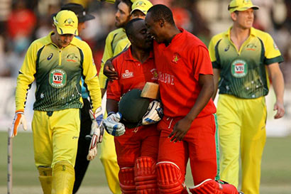 Zimbabwe beat Australia