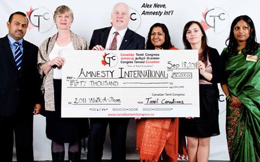 Amnesty international with Tamil congress