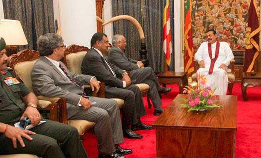 Indian Defence Secretary calls on the Sri Lanka President