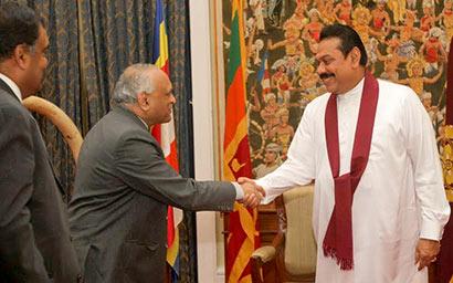 Indian Defence Secretary calls on the Sri Lanka President