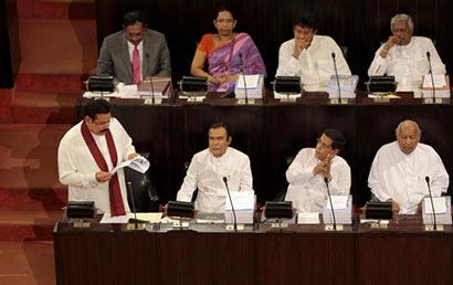 President Mahinda Rajapaksa's 2015 budget speech