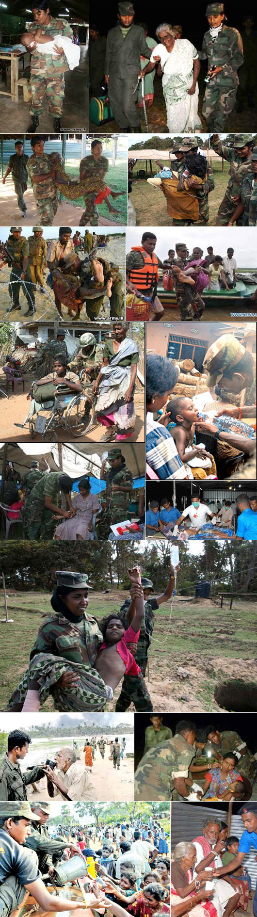 Sri Lanka's Soldiers saving Tamils from LTTE Terrorists