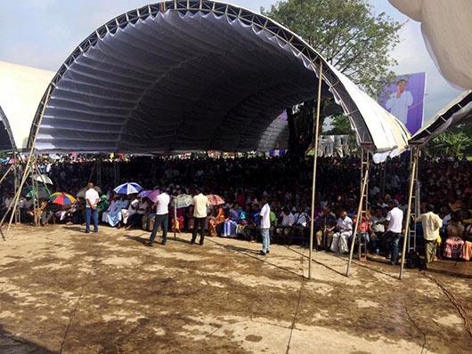 Maithripala Sirisena at Polonnaruwa