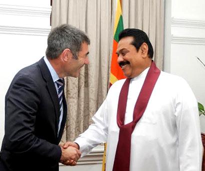 Mr. Nathan Guy met President Mahinda Rajapaksa