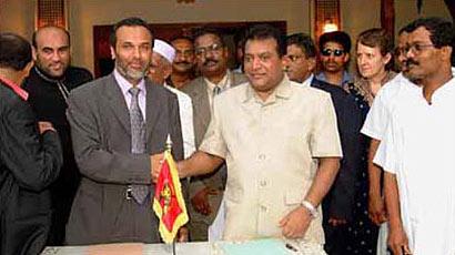 Prabhakaran with Hakeem