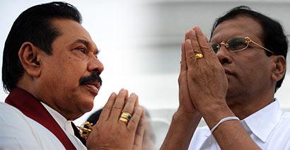 President Mahinda Rajapaksa Vs Maithripala Sirisena