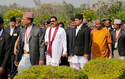 President Rajapaksa Visits Lumbini