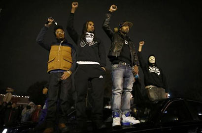 Protesters at Ferguson Missouri