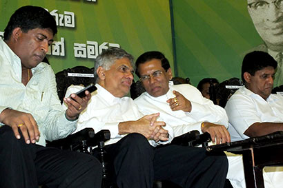 Ranil and Maithripala Sirisena