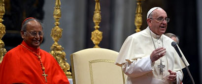 Cardinal Malcolm Ranjith and Pope Francis