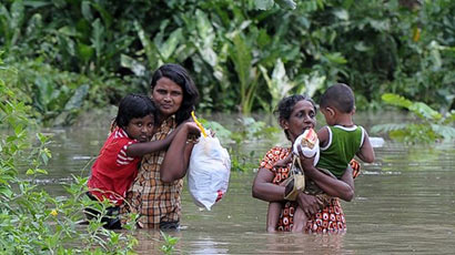 Flood displacement in Sri Lanka
