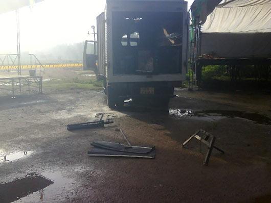 Maithri's rally sabotaged in Wanduraba Galle