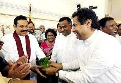 Jayantha Ketagoda with President Mahinda Rajapaksa