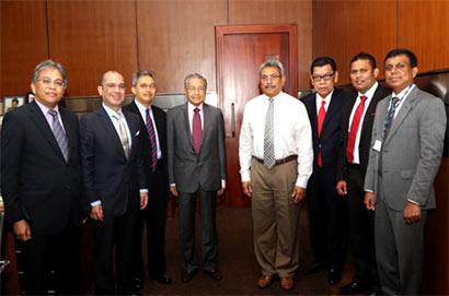 Mahathir Mohamed and Gotabhaya Rajapaksa