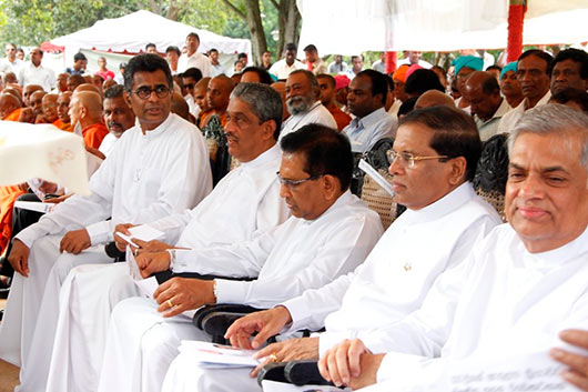 Maithripala Presented his Election Manifesto today