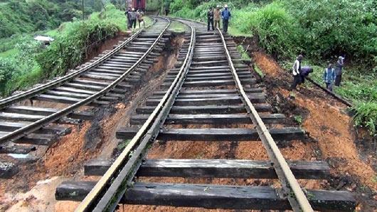 Up country railway line damaged in Sri Lanka