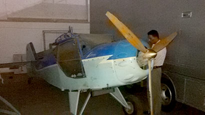 Two-seater aircraft found in Narahenpita