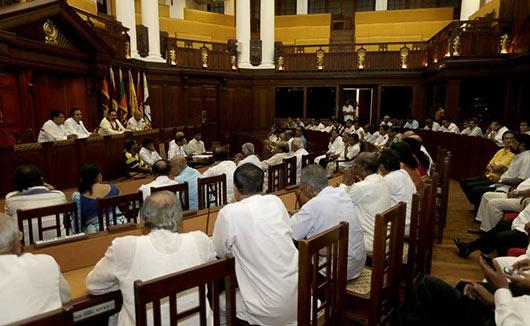 Former President Mahinda Rajapaksa leaves Temple Trees
