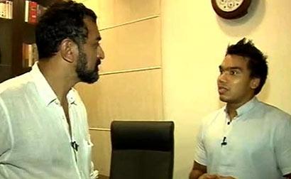 Namal Rajapaksa with NDTV