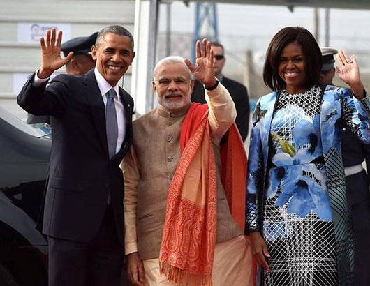 Indian Prime Minister Narendra Modi and US President Barack Obama