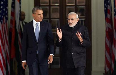 Indian Prime Minister Narendra Modi and US President Barack Obama