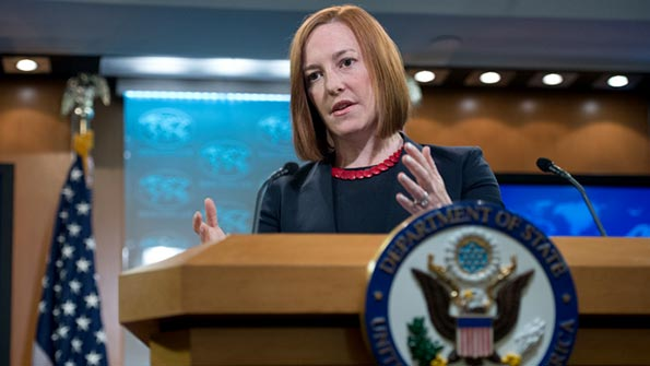 State Department spokesperson Jen Psaki