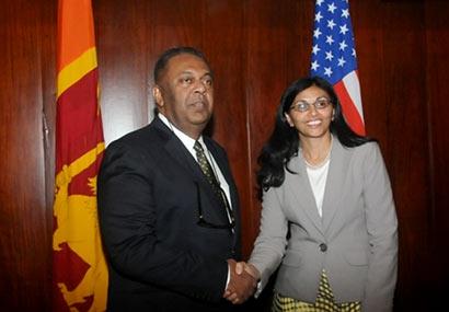 Mangala Samaraweera and Nisha Biswal