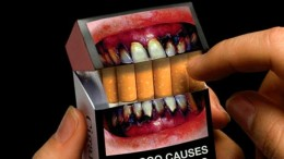 Pictorial warning law on cigarette packs