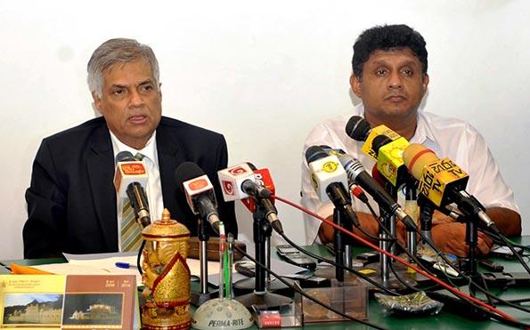 Ranil Wickremasinghe and Sajith Premadasa