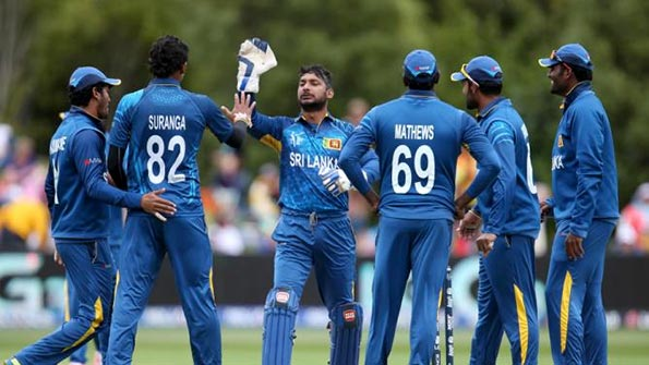 Sri Lanka Cricket team celebrate after taking wicket vs Afghanistan Cricket team in Worldcup 2015