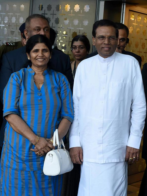 Sri Lanka President Maithripala Sirisena arrives in India on first foreign trip