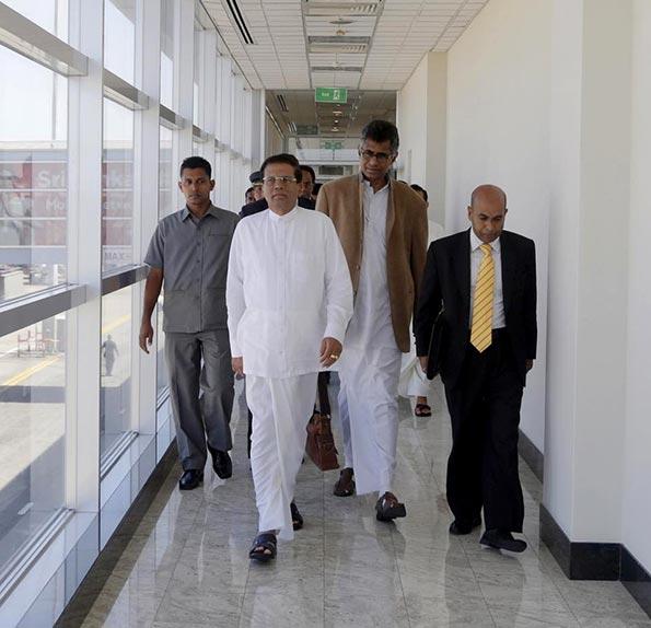 Sri Lanka President Maithripala Sirisena left for India
