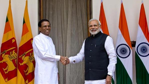 Sri Lanka President Maithripala Sirisena meets India Prime Minister Narendra Modi