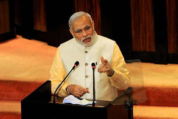 Indian Prime Minister Narendra Modi's speech in Sri Lanka Parliament
