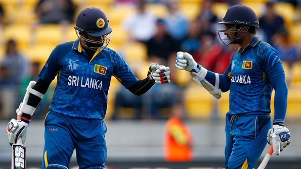 Kumar Sangakkara and Lahiru Thirimanna