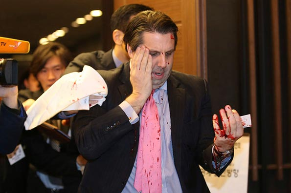 The U.S. Ambassador to South Korea, Mark Lippert, was attacked in Seoul - South Korea