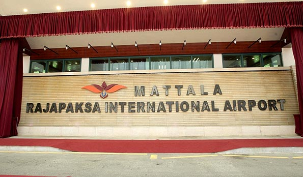 Mattala airport in Sri Lanka