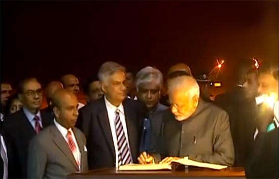 Indian Prime Minister Narendra Modi Arrives in Sri Lanka