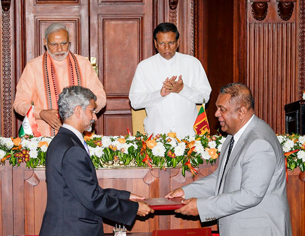 Sri Lanka and India Sign Four Bilateral Agreements