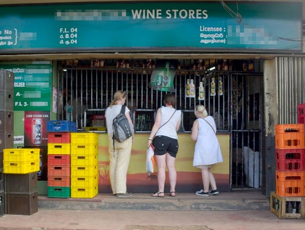 Sri Lanka liquor shop