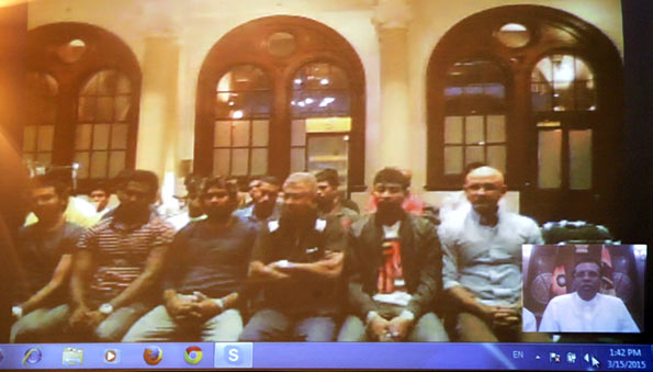 Sri Lanka President Congratulates Sri Lankan Cricket Team for the World Cup over Skype