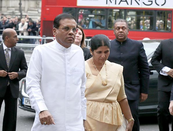 Sri Lanka President Maithripala Sirisena in London