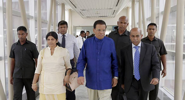 Sri Lanka President Maithripala Sirisena leaves for China