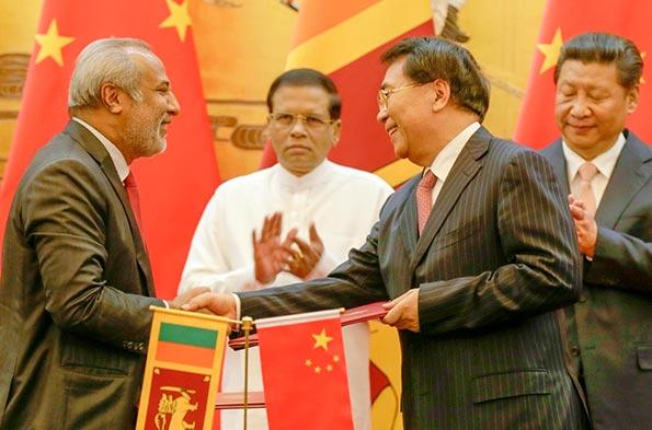 Sri Lanka President Maithripala Sirisena met Chinese President Xi Jinping