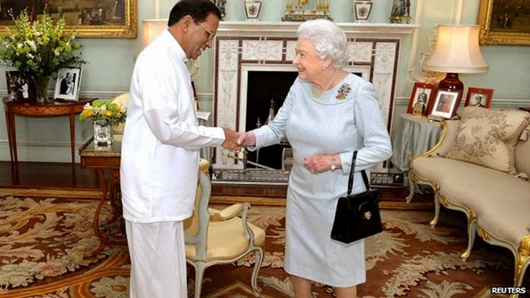 Sri Lanka President Maithripala Sirisena met Queen Elizabeth