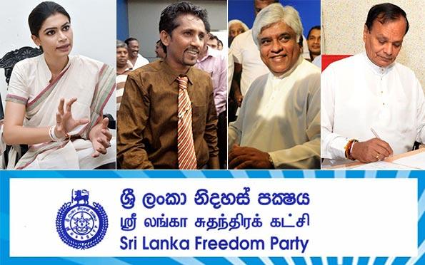 Sri Lanka Freedom Party - SLFP - Hirunika - Arjuna - Solangaarachchi - Nandimithra