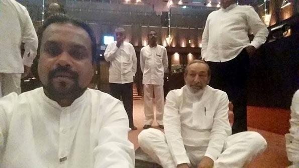 UPFA MP Protest in Parliament