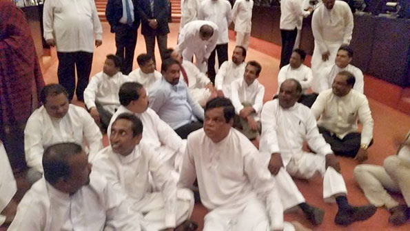 UPFA MP Protest in Parliament