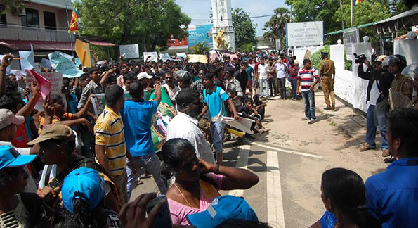 Jaffna protest on crime
