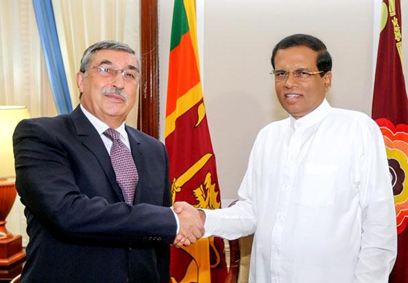 Ambassador of Russia in Sri Lanka, Mr Alexander A Karchava with Sri Lanka President Maithripala Sirisena